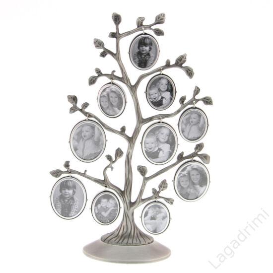 Családfa képkeret - 10 képes (ezüst)