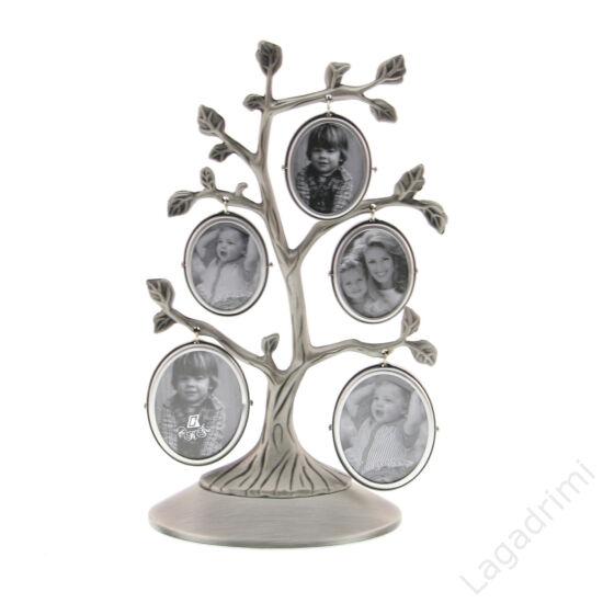 Családfa képkeret - 5 képes (ezüst)