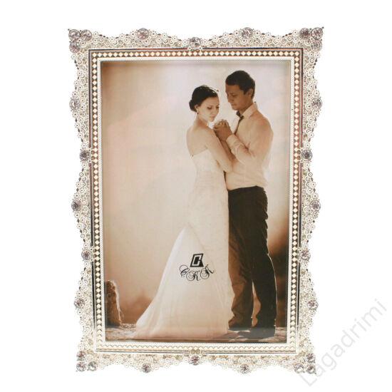 Esküvői képkeret ( ezüst,10x15)