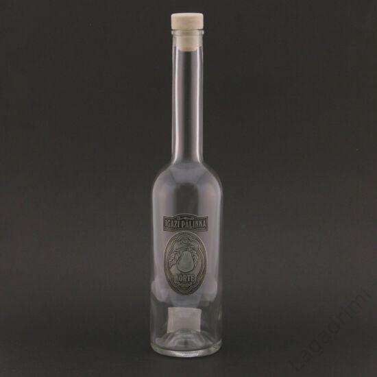 Óncímkés pálinkás üveg - Igazi pálinka - körte