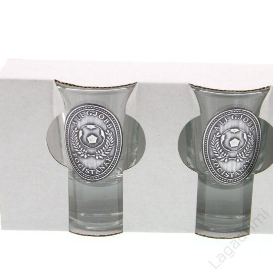 Óncímkés stampedlis pohár 6db (34ml) -  Focis