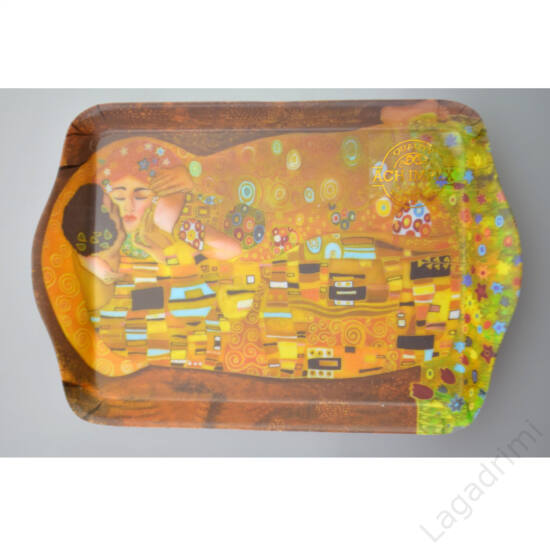 Műanyag tálca (21x14,1cm) - Gustav Klimt, Kiss