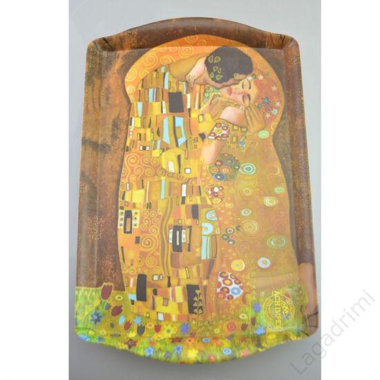 Műanyag tálca (35x22,5cm) - Gustav Klimt, Kiss