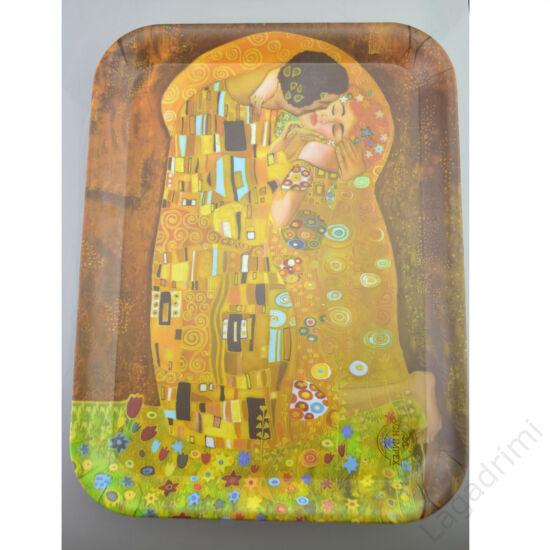 Műanyag tálca (39,5x29cm) - Gustav Klimt, Kiss