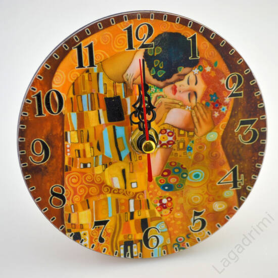 Asztali/fali óra (Klimt, Kiss) (12cm)