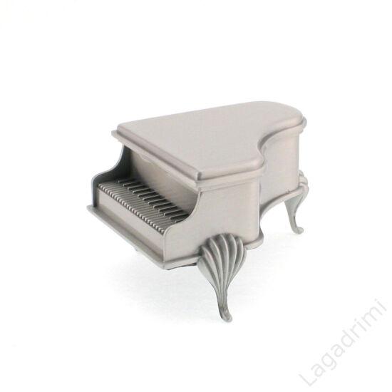 Ékszertartó zongora (fém, 13,5x10,5x8cm)