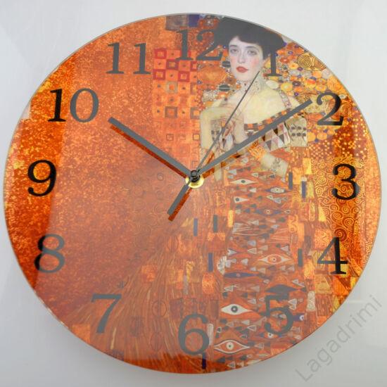Gustav Klimt üveg óra (Adele) (30cm)