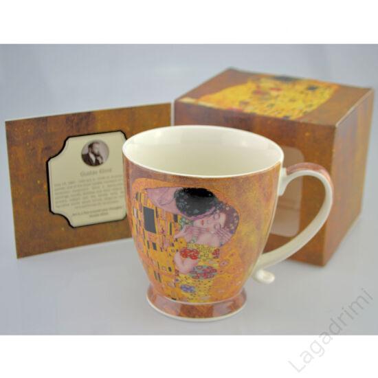 Gustav Klimt bögre díszdobozban, 480ml (The Kiss)