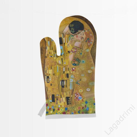 Klimt The Kiss edényfogó kesztyű (Pamut)