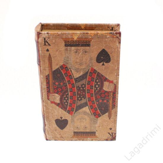 Műbőr könyvdoboz (13x21cm) - Király