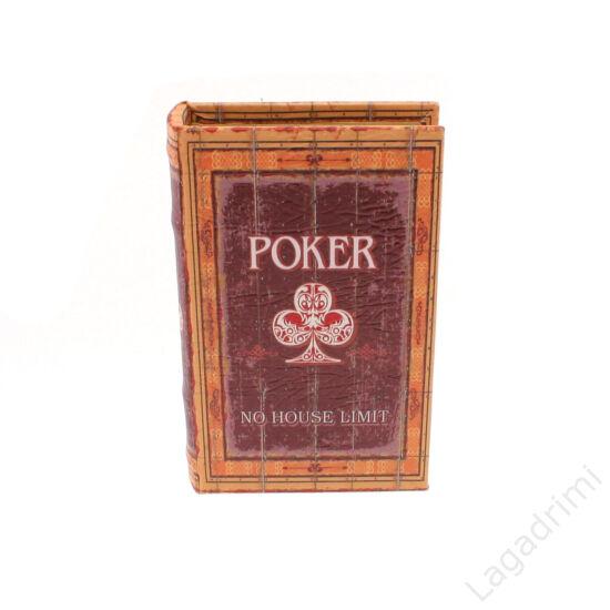 Műbőr könyvdoboz (13x21cm) - Póker
