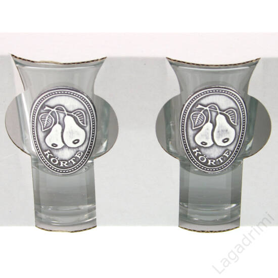 Óncímkés stampedlis pohár 6db (34ml) -  Körte