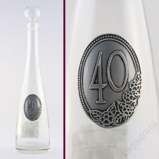 Óncímkés üveg évszámmal 0,5l - 40