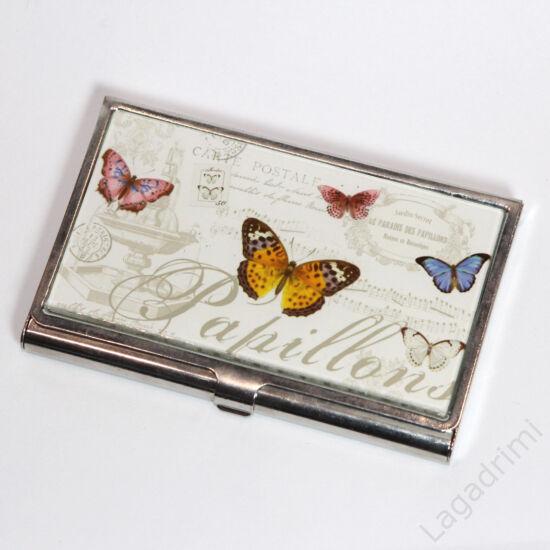 Fém névjegykártya tartó (Papilllons)