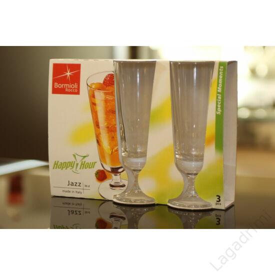 Üveg koktélos pohár (33 cl) - 3db-os szett - Bormioli Rocco - Jazz