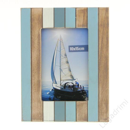 """Képkeret """"Mauritius"""" (15x10cm, kék-barna-fehér)"""