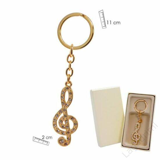 Zenei kulcstartó (arany)