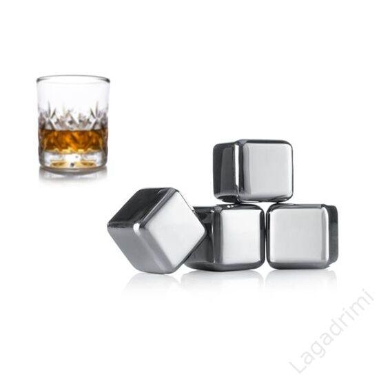Hűtő fémkocka Whisky 4 db-os szett - Vacu Vin