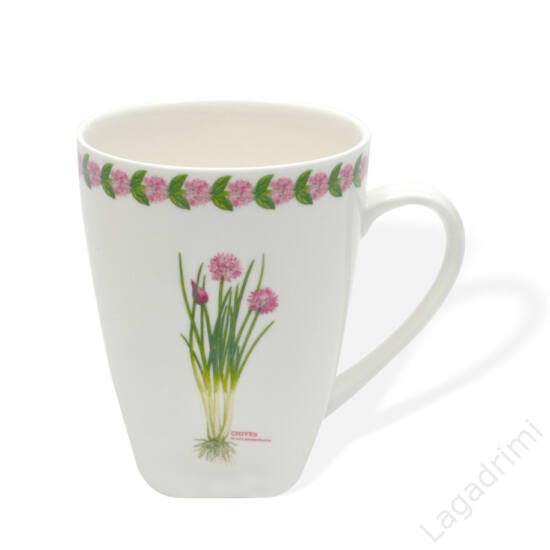 Porcelán bögre - Chives (380ml) - Maxwell & Williams Fragrant Garden